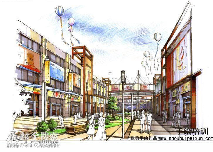手绘培训|建筑,城市规划