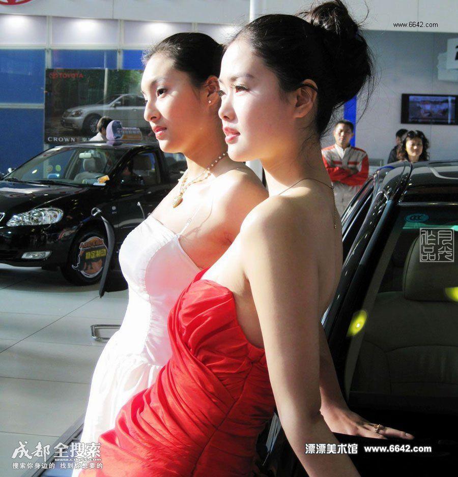 扬州车展美女如云