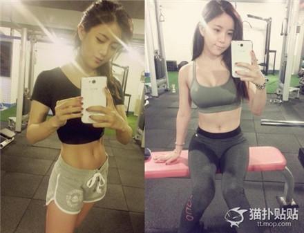 健身的女孩最美丽!美女晒性感健身照