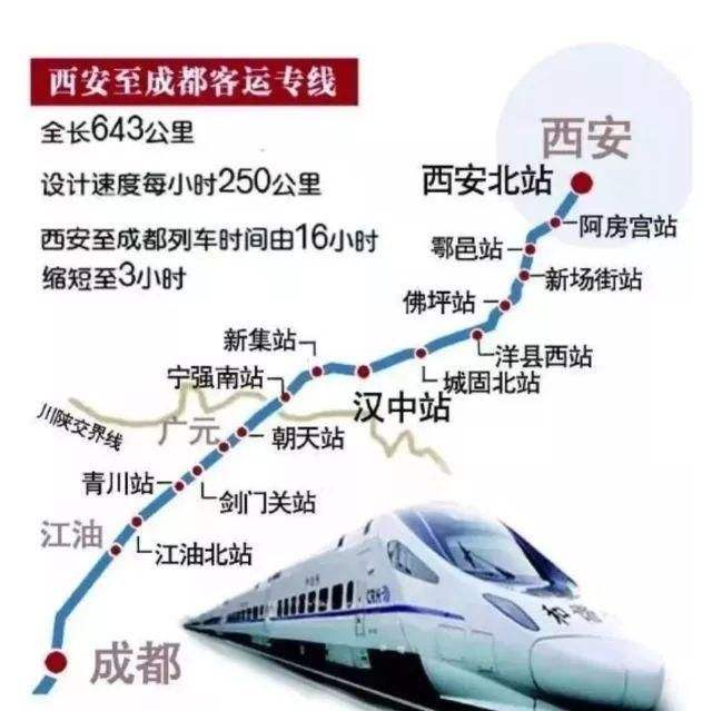 本月29日起成都到西安每天33趟,最短运行时间3小时25分